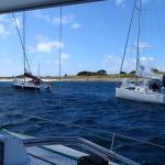 Arrivée au mouillage du phare de l'île de Penfret (archipel des Glénan)