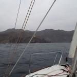 En approche de la baie de Faja d'Agua
