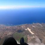 comme vue d'avion, La Gomera à droite...