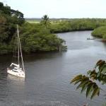 La branche du Rio da Serra qui permet d'accéder à la cascade à marée haute,