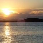 Coucher de soleil sur Sapinho