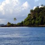 En allant à Camamu en escuna (bateau en bois faisant office de bus)
