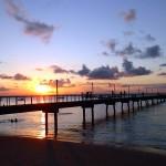 Coucher de soleil sur le ponton de Barra Grande