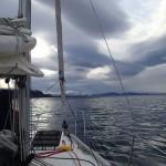 Canal Valdes, au fond à tribord le golfo Almirante Montt