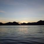 Lever de soleil sur l'estero Barros Arana