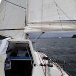 Devant à bâbord, la punta Hudson qui ouvre sur la laguna San Rafael