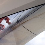 Préparatifs pour affronter le vent sortant de l'estero Quitralco