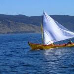 Bateau de pêche en approche de la bahia Corral
