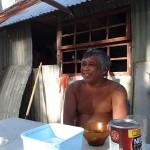 Michel en retraite sur son motu de Puaumu