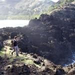 En approche de la pointe Terua Mago