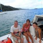 Chris et Paula, au fond leur voilier, Morgane