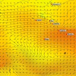 Carte de prévision des vagues