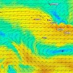 Carte de prévision du vent
