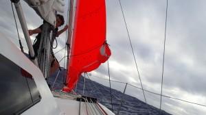 Préparation du bateau pour le coup de vent