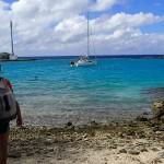 Le mouillage de Ikitake et sa caye de corail