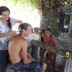 Salon de coiffure en publique