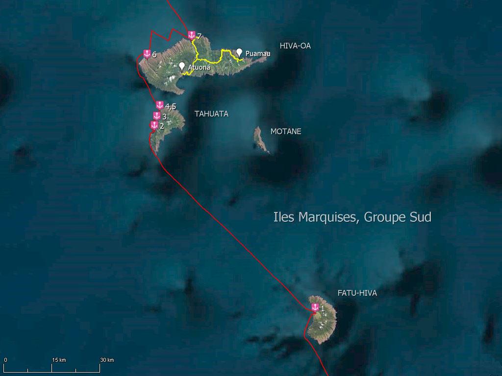 Groupe Sud des îles Marquises