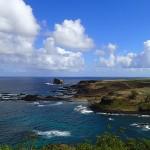 La côte Sud de Ua-Huka et le motu Papa