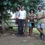 Christian et Tehei de Pua, merci pour le miel, les fruits et le poisson !
