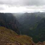 Vallée de Hakaui, vue depuis les crêtes