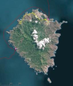 Contournement de l'île de Ua-Pou