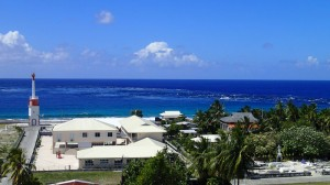 Courant sortant de la passe Est de l'atoll de Makemo, village de Pouheva