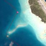 Sur son reef NE, le mouillage le mieux protégé de l'atoll de Makemo
