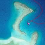 Choisir son côté en fonction du vent, reef SW de l'atoll de Tahanea