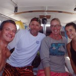 Jeff et Katie en visite à bord