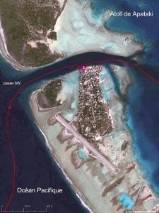 Accès au village de Niutahi dans la passe SW de l'atoll de Apataki