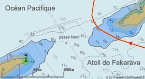 La passe Nord de Fakarava (cartes CM93)
