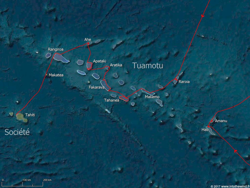 Tuamotu-route