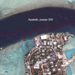 Par Est, un emplacement de luxe, le quai de Niutahi, passe SW de Apataki