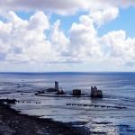 Sur la côte NW, le port désaffecté de Temao où le phosphate été chargé