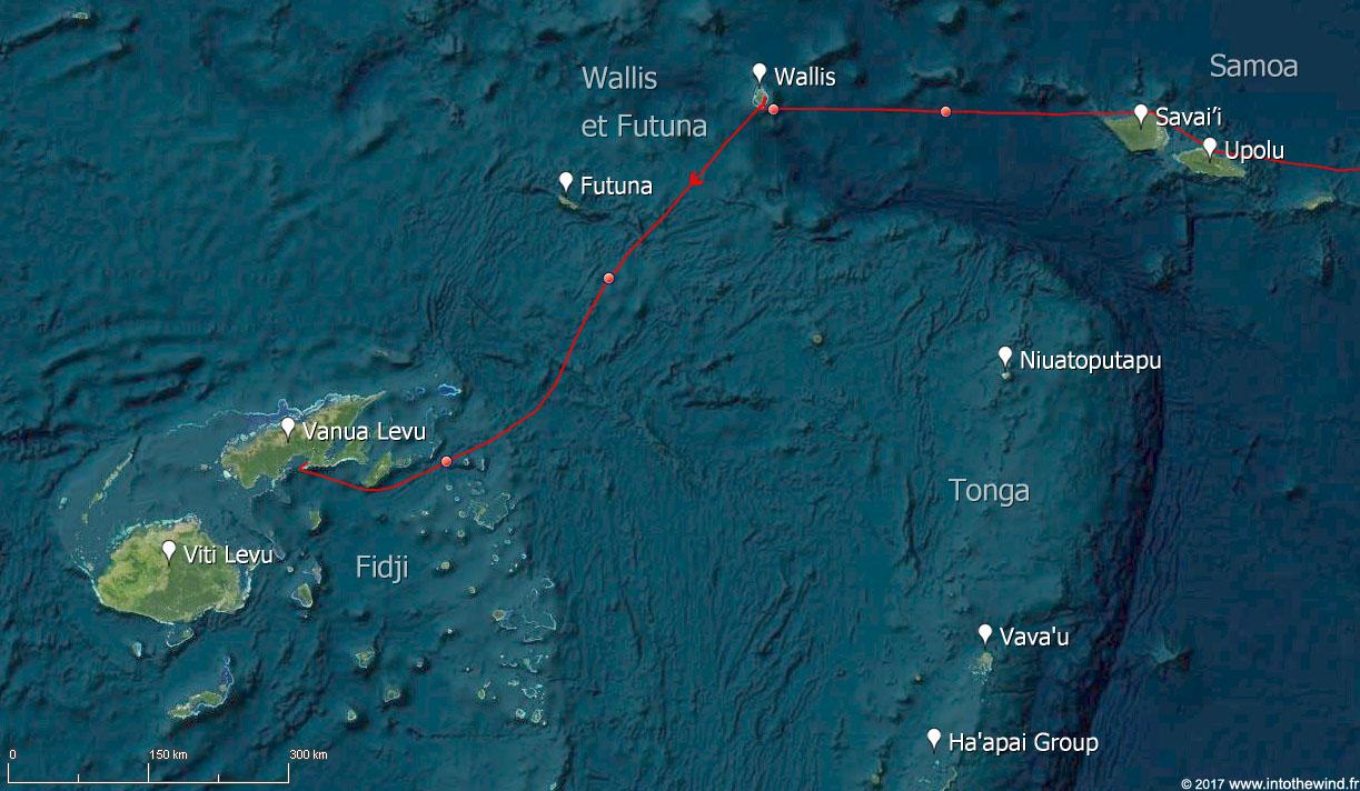 Neuvième étape de la transpacifique de Wallis aux Fidji