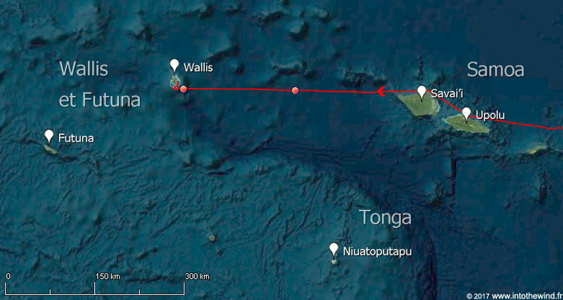 Huitième étape de la transpacifique des Samoa à Wallis