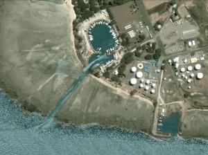 Vuda Point Marina et son chenal d'accès