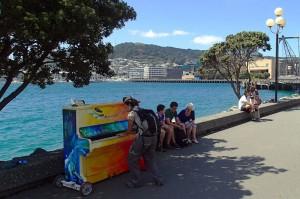 Le piano public du bord de mer