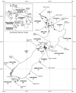 Les zones météo en Nouvelle-Zélande