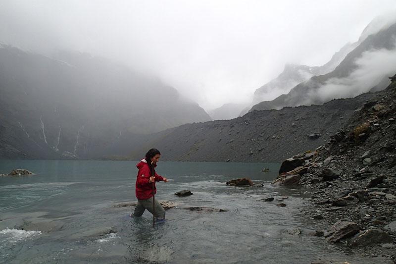 Traversée du verrou du lac Lucidus