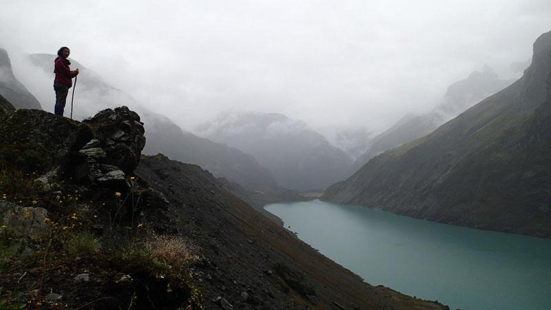 Sur la moraine du lac Lucidus
