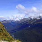 Au fond, notre objectif, la route du Milford Sound