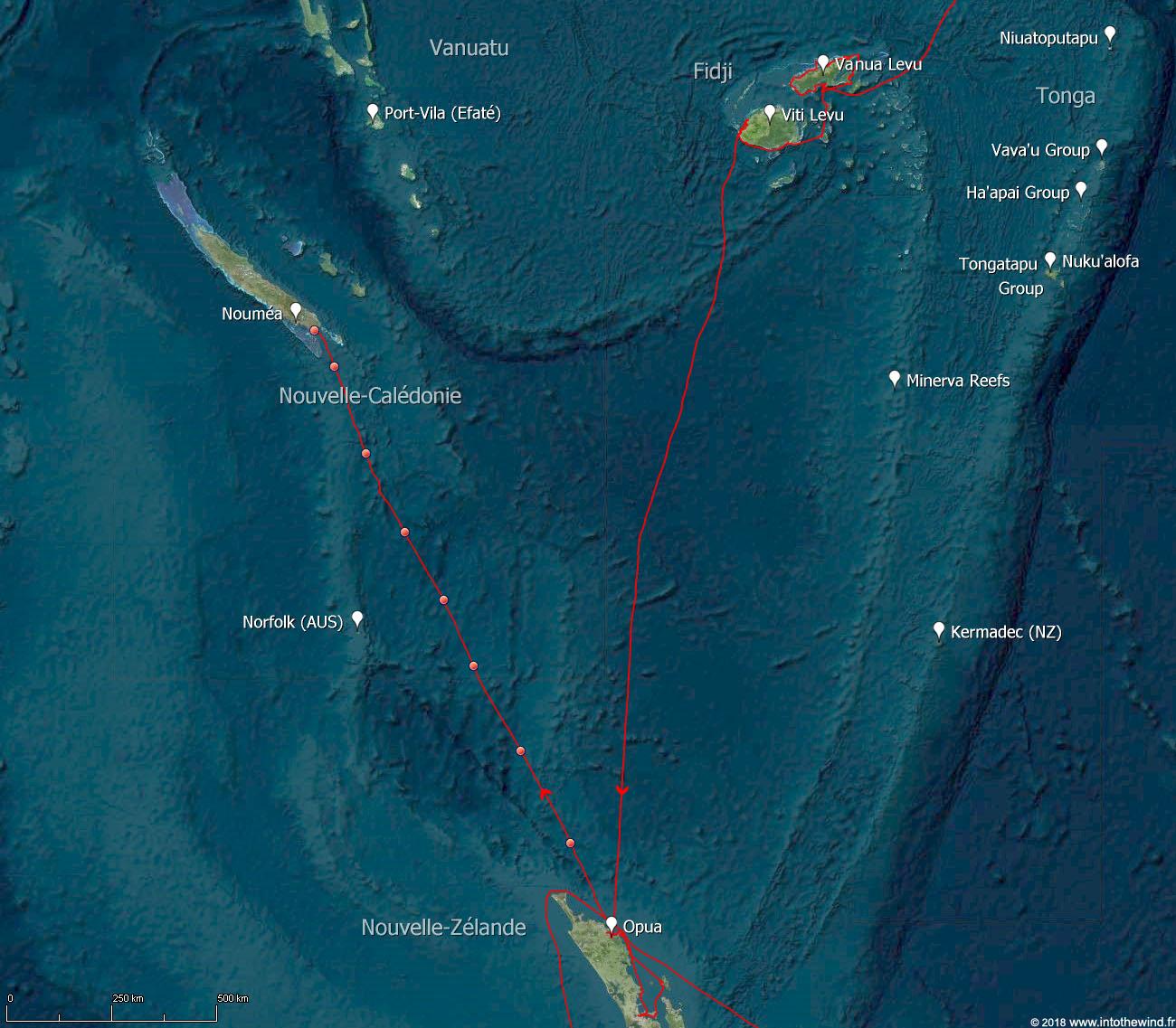 Onzième étape de la transpacifique de la Nouvelle-Zélande à la Nouvelle-Calédonie