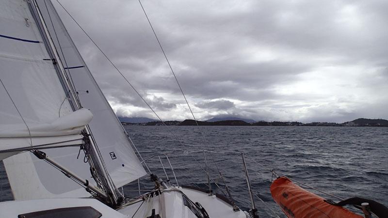 Dernier bord avant la baie de l'Orphelinat et Nouméa