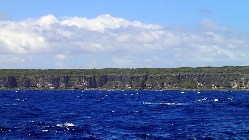 Après le cap Bernardin, la côte N de Lifou