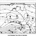 Météofax du 11/06, prévision H+44 du 13/06 à 10:00 (UTC+10)