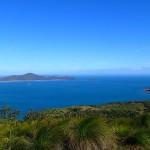 Le mouillage de Burning Point à l'île Shaw vue depuis l'île Lindeman