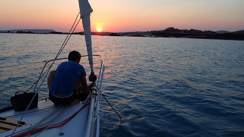 Coucher de soleil à Osborne Islands