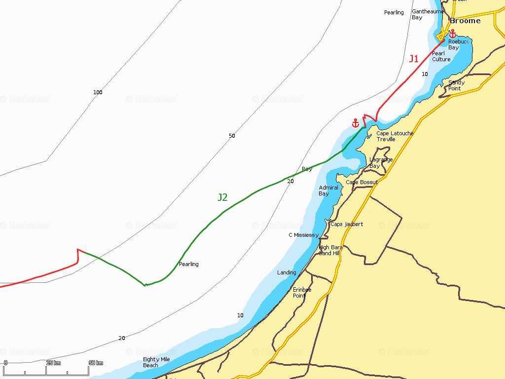 J1-2 Départ de Broome, Eighty Mile Beach