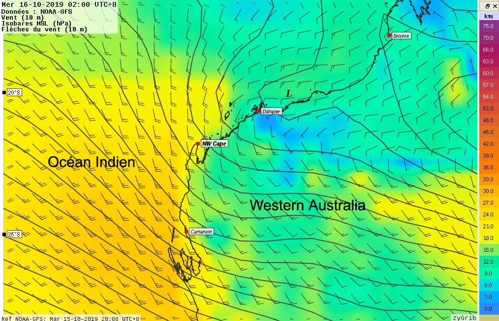 Météo typique de la côte Ouest (16/10 à 2:00 AM)
